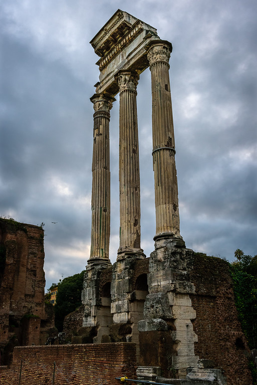 The remaining three (they're huge) columns of the Temple of Castor in the Roman Forum