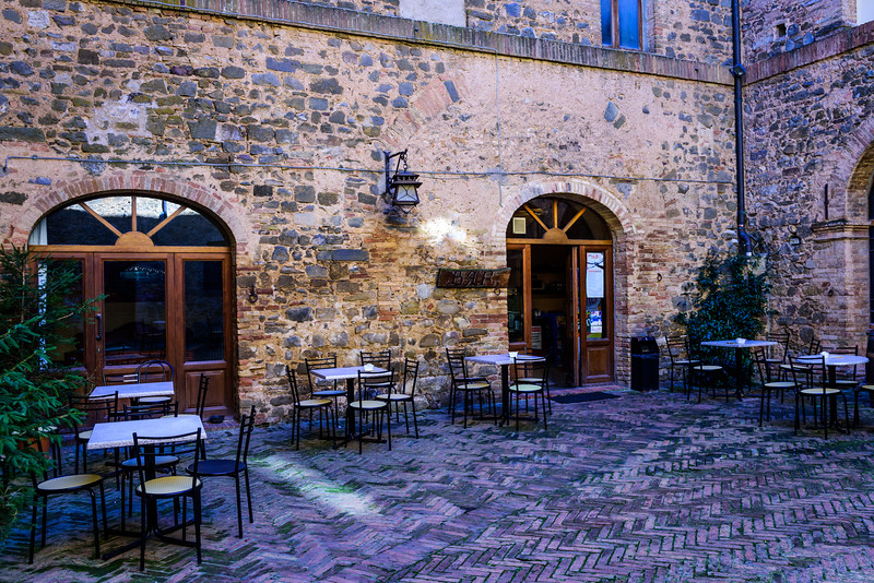 Our Morning Cafe in Montalcino