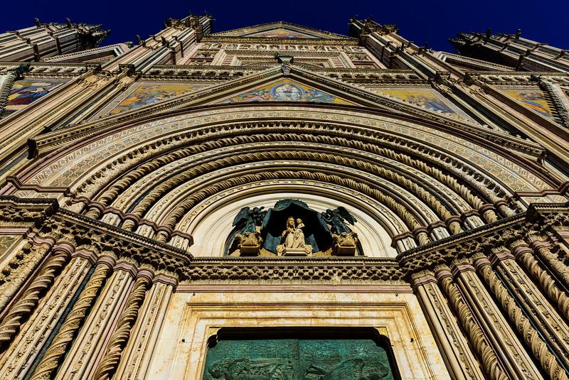 Orvieto Cathedral - Facade, Steep Angle