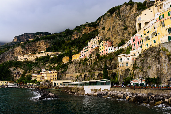 A stretch of the Amalfi coastline