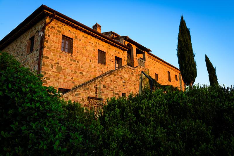 Our Tuscan Farmhouse in Sunrise Light