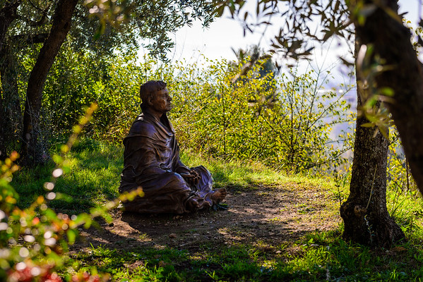 Statue of St. Francis at San Damiano