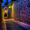 Assisi Alley at Night