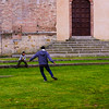 Futbol in Front of the Basilica