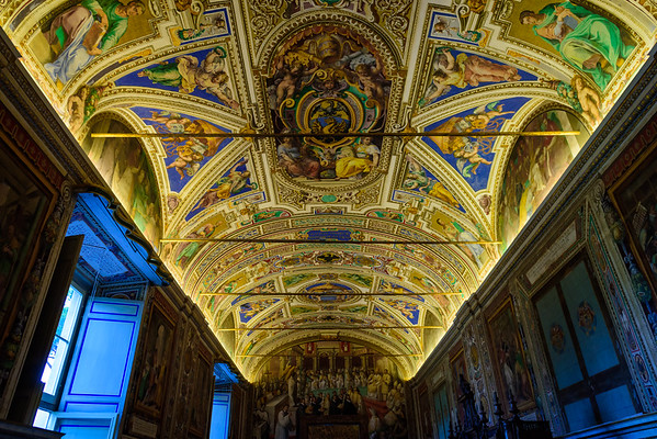 Another ceiling in another gallery in the mind-altering Vatican Museums