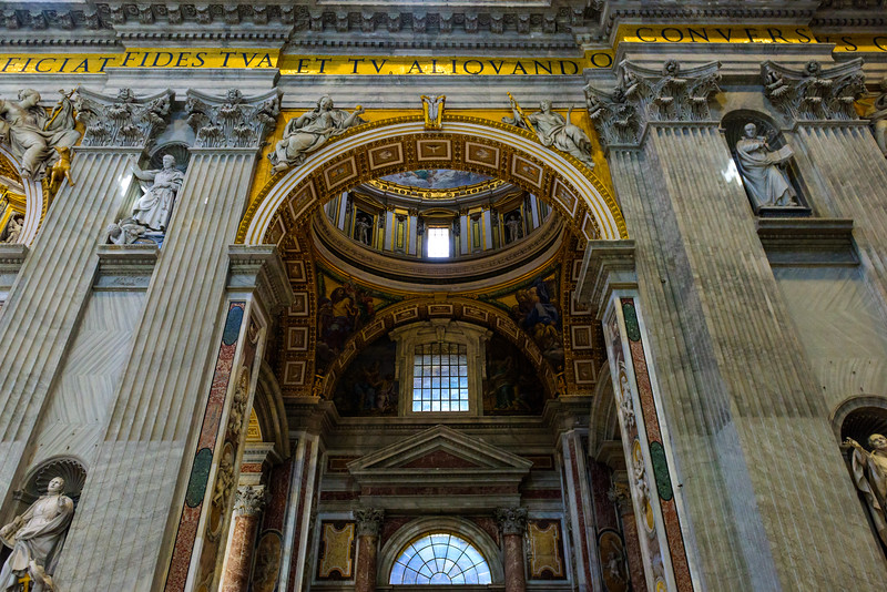 St. Peter's Basilica - Entrance to (one of the chapels along the left transept)