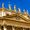 St. Peter's Basilica - Central Pediment and Statues