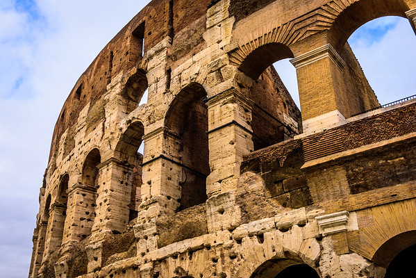 It's hard to find an angle on the Colosseum without a ton of people in the frame.