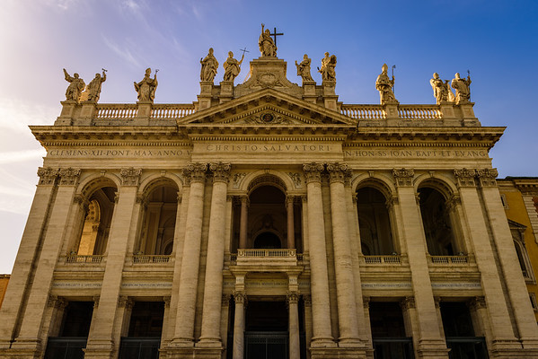 The facade of St. John Lateran. We saw a lot of facades on this trip.