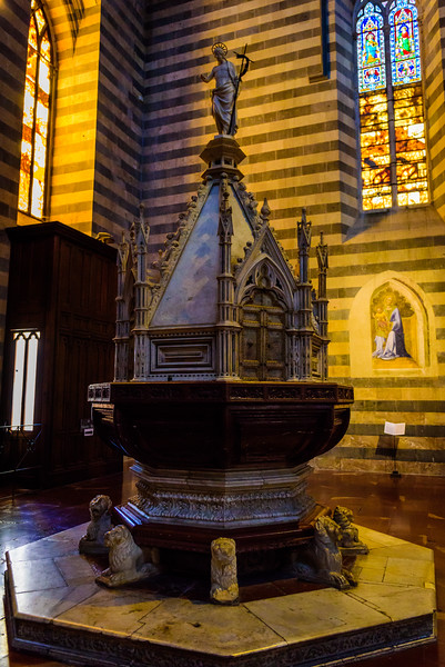 Orvieto Cathedral Baptistery Font