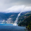Waterspout in Amalfi - Hitting Land