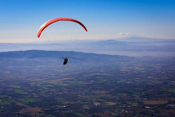 Paragliding off of Monte Subasio