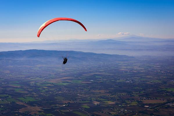 Paragliding off of Monte Subasio