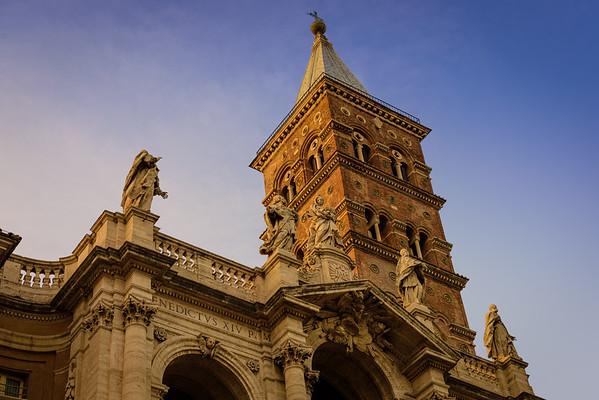 The facade of Santa Maria Maggiore