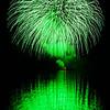 Fiery Green Reflection