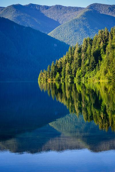 Calm Lake, Trees and Hills