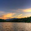 Summer Sunset at Lake Crescent
