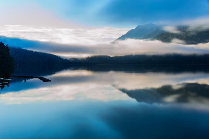Lake Crescent, pre-Dawn Blue-Hour