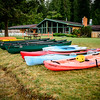 Lake Canoes Ready To Go