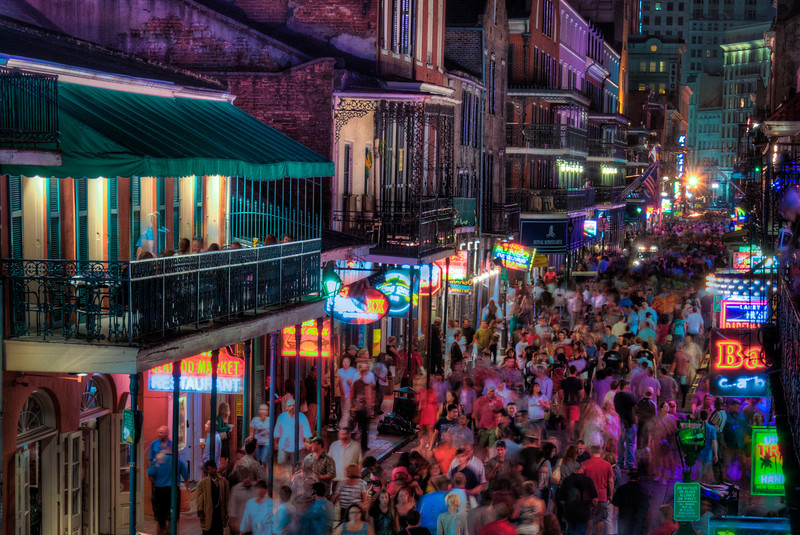 Bourbon Street In Motion