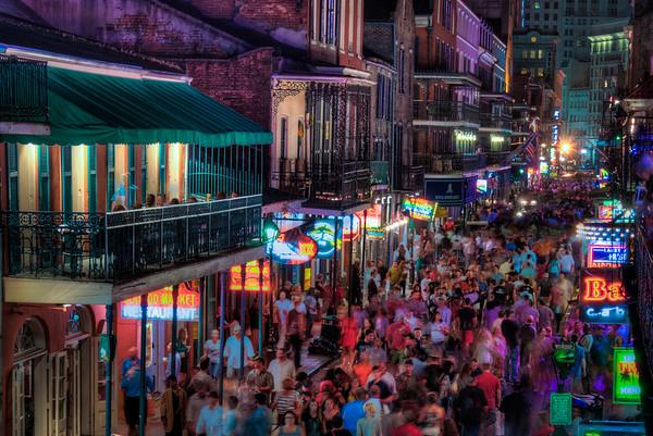 Bourbon Street In Motion