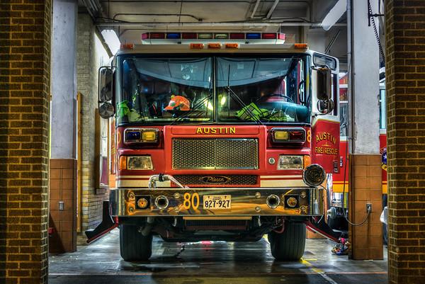 Austin Fire Truck at Night