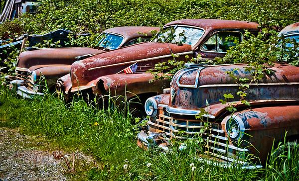 Cadillacs at Rust