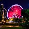 SkyView Atlanta Ferris Wheel In Motion