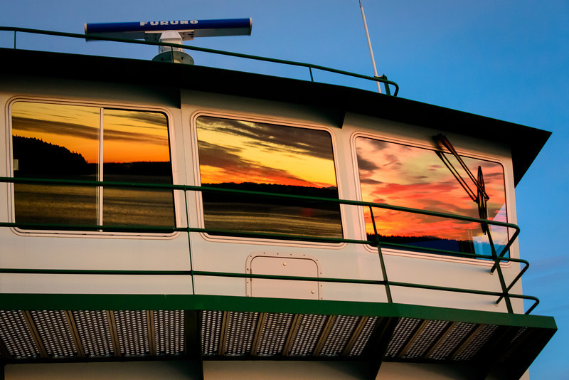 Sunset in Ferry Reflection