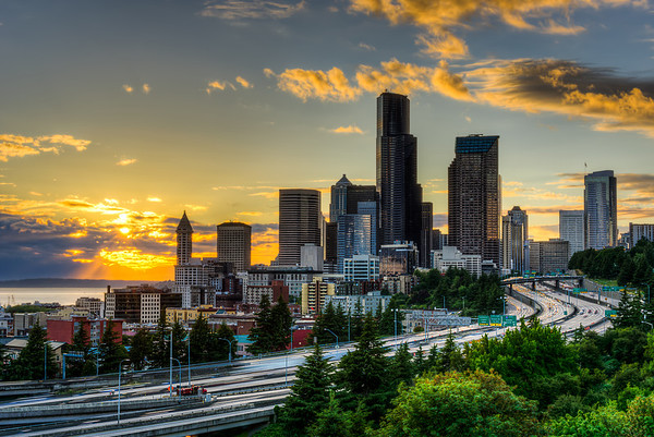 Seattle Skyline at Sunset