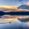 Sunrise at Lake Crescent