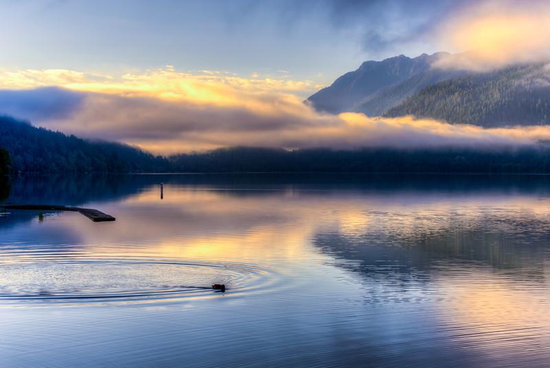 Sunrise at Lake Crescent