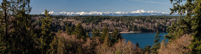 Olympic Mountains Beyond the Colvos Passage