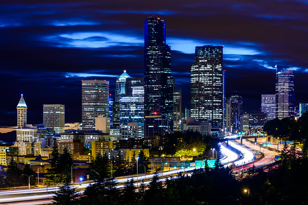 Seattle Skyline from 12th Ave. Bridge
