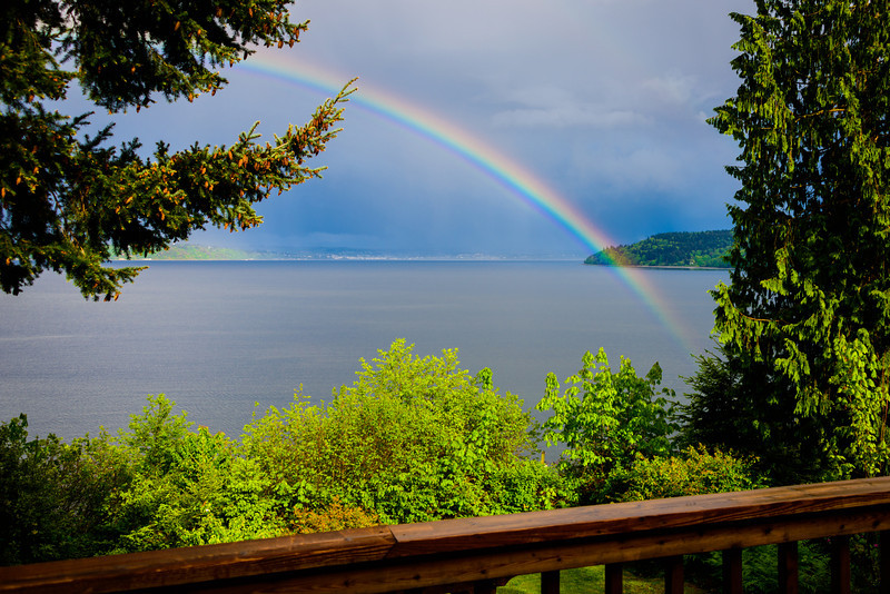 Rainbow from My Back Deck