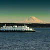 Ferry and Mt. Rainier
