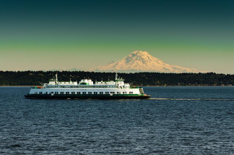 Ferry and Mt. Rainier