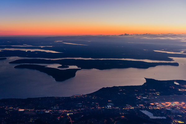 Note: Image of Vashon Island from a plane not taken on the Italy trip