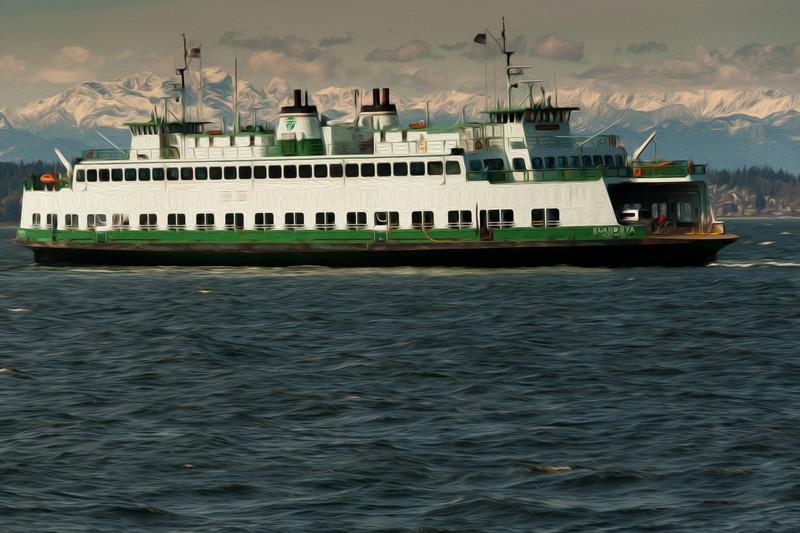 The Klahowya Ferry - artistic