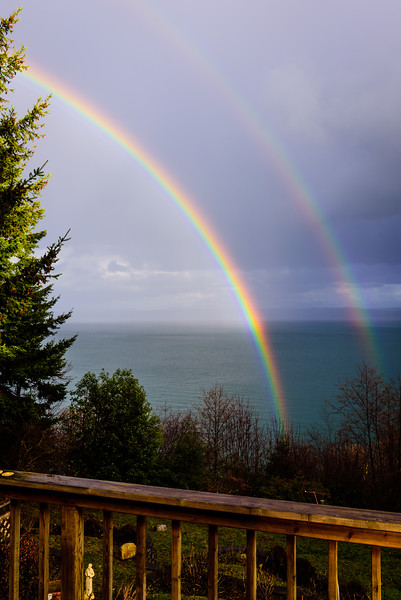 Double Rainbow from Back Deck