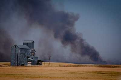 Fire near Shelby, Montana