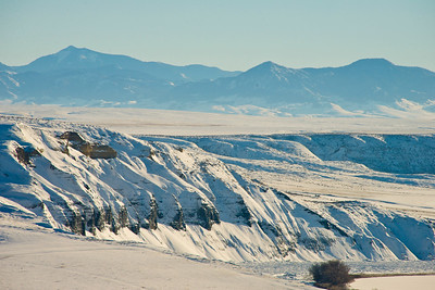 Winterscape near Fort Benton, Montana