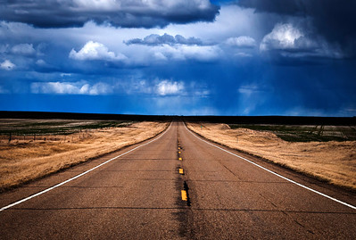 Lonely Road in Eastern Montana