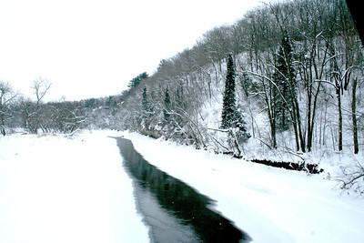 Upper Iowa River Bank; Winter 2010