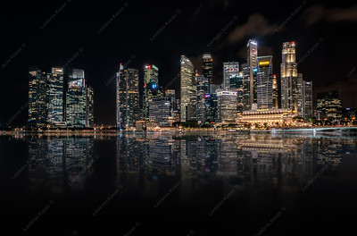 Singapore, Night Panorama