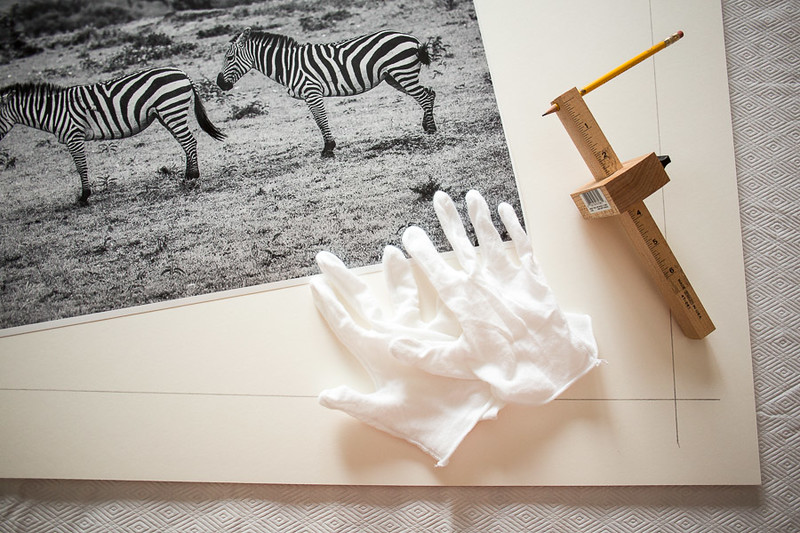 "Mounting a 17""x25"" B&W print.  3 Zebras | Maasai Mara, Kenya"