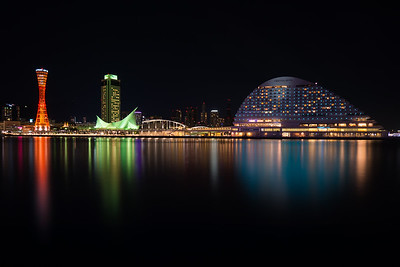 Harborland (at night) - Kobe, Japan 2017
