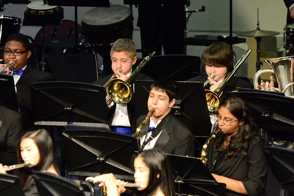 Three Blue and Gold Concert Bands