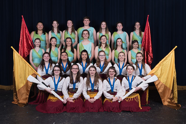 2018 Winter Guard Portraits