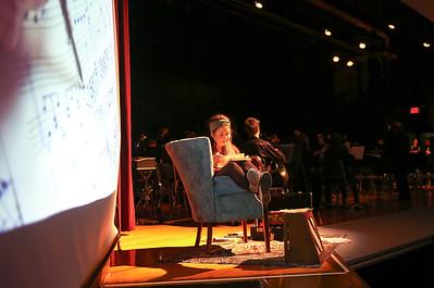 Mia Drago played narrator Mia Belmont.  Photo by John Fitts